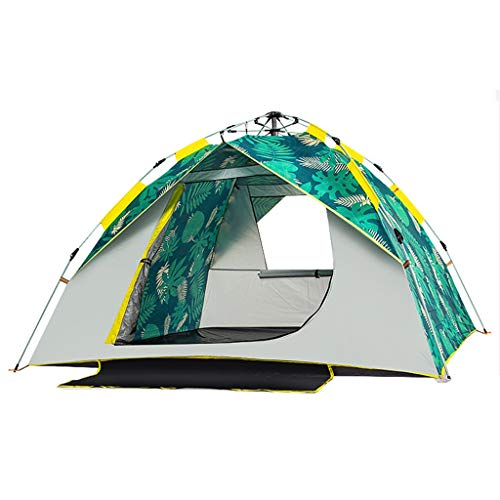 WGYDREAM Instant Tent Automatic Tent Pop Up Tent Waterproof Outdoor Camping Tent Anti-UV Portable Lightweight Backpacking Tent for Hiking Mountaineering (Color : Green, Size : 2 Person tent)