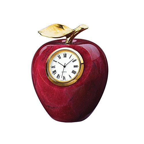 Marble Apple Clock Paperweight...