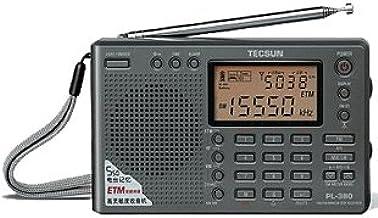 TECSUN PL-380 Radio Digital PLL Portable Radio FM Stereo/LW/SW/MW DSP Receiver (Black)
