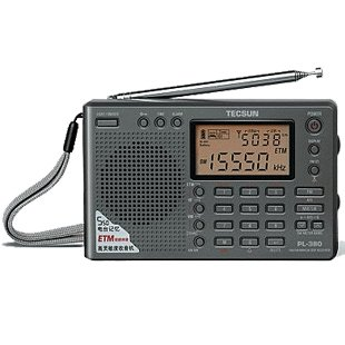 TECSUN PL-380 Radio Digital PLL Portable Radio FM Stereo/LW/SW/MW DSP Receiver (Black)