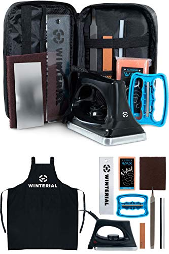 Winterial Snowboard and Ski Tuning Kit, with Iron, All-Temp Snowboard Wax, Angled Edge Tuner File,...