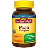 Nature Made Multivitamin Complete Tablets with Vitamin D3 and Iron, 130 Count for Daily Nutritional Support