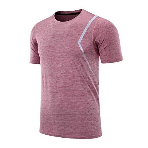 Cxypeng Kompressionsshirt Fitness Kurzarm,Mode läuft schnell trocknende Kurze Ärmel,...
