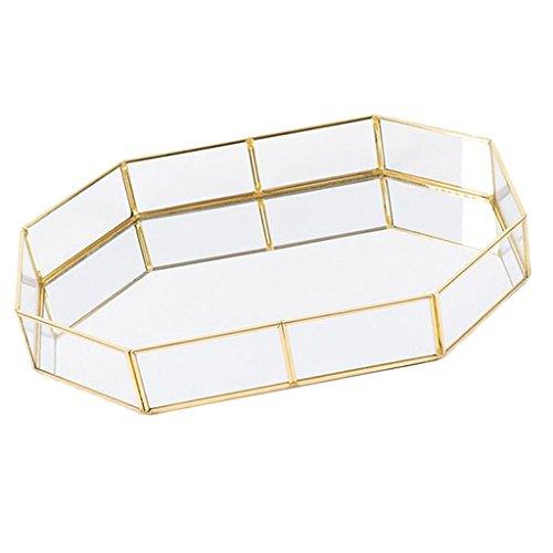 joyMerit Geometrische Terrarium Schmuck Tablett Organizer Ablagekorb Home Table Decor - Polygone S