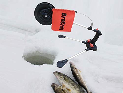 Brocraft Ice Fishing Stand Rattle Reel/Ice Fishing House and shanty Reel/Tip- up