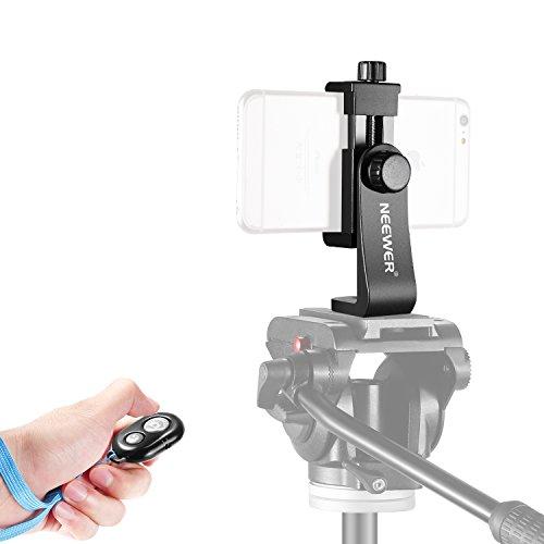 Neewer Support Vertical de Smartphone avec Montage de Trépied (Clip + Déclencheur)