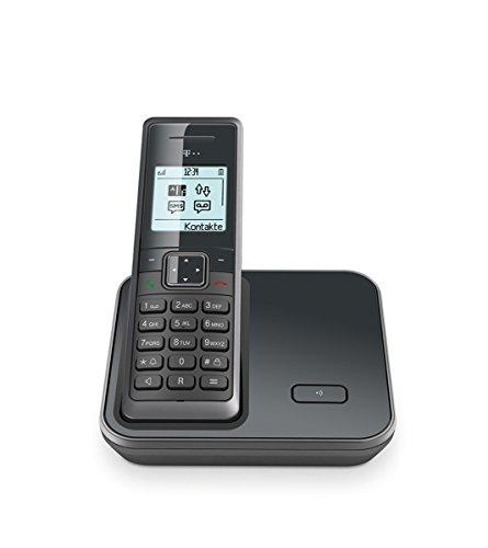 TELEKOM Sinus 206 Graphit schnurlos analog Telefonbuch für 150 Einträge Freisprechen großes beleuchtetes monochromes Grafik-Display