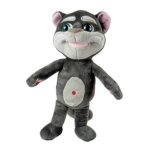 Grandi Giochi - Talking Tom con Sonidos, Color Gris, 30 cm, GG01402