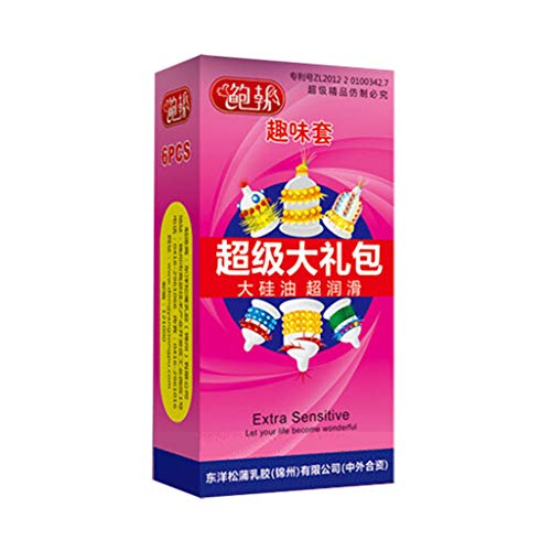 G-Punkt geformtes Sex Kondom Set, Hautgefühl gegen Kondome, Ultra Perlen Naturlatex geschmiert Perfekte Kondome (6 pcs)