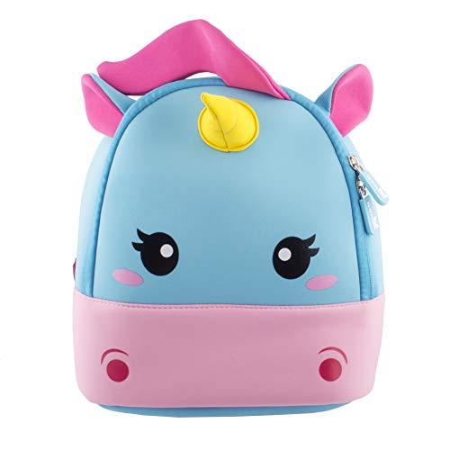 BINGONE Zaino per bambini Animale unicorno Zainetto Bambina Scuola Borsa Zaino per Bambino Ragazze da 2 – 6 età Rosa
