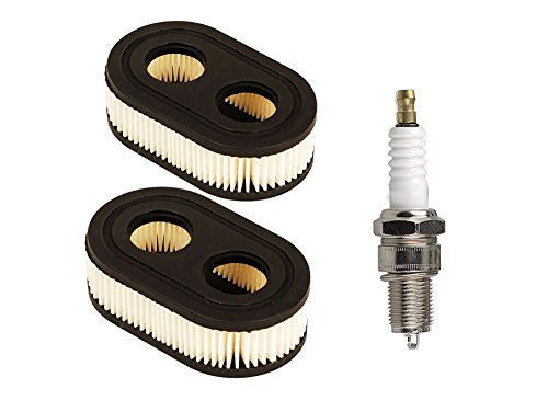 OxoxO Repuesto de cartucho de filtro de aire con bujía para cortacésped Briggs & Stratton 798452 593260 Repalce Oregon 30-168 Rotary 14364