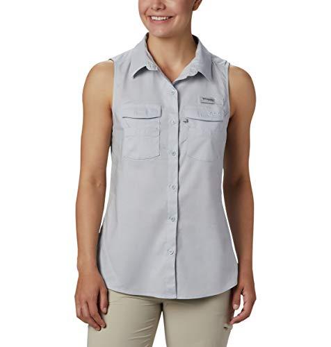 Columbia Women's Bonehead Stretch Sleeveless Shirt, Cirrus Grey, Small