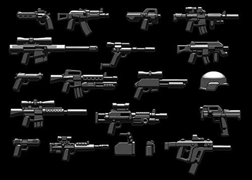 Brickarms Modern Combat Pack - Tactical Pack Waffen Set für LEGO Figuren 19 Teilig