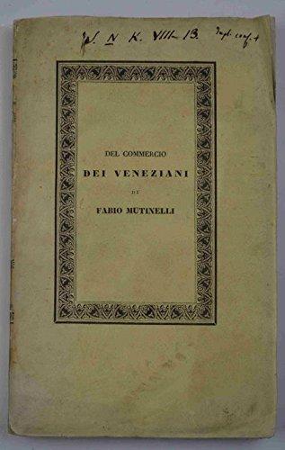 Del commercio dei veneziani.