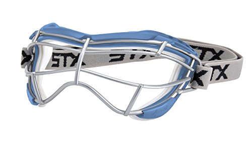 STX Lacrosse Women's 4Sight Focus Goggles, Carolina Blue/White