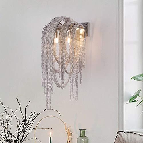 ZHNINGUR Cadena de la lámpara de Pared del Accesorio Ligero de Aluminio Soporte de Pared de Plata Apliques de Pared Iluminación del Pasillo de la lámpara Pasillo luz del pórtico