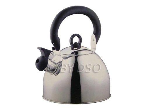 Prima - Wasserkessel 2,5 Liter Edelstahl Pfeifender Kessel Silber 11126C