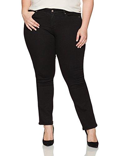 Levi's Damen Plus 414 Classic Straight Jeans Gr. 50 DE (S), Schwarz - Soft Black