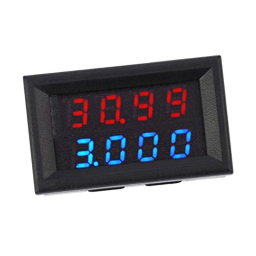 Dc 0-200v Digital-Multimeter Voltmeter Amperemeter-Energie-Überwachung Power Panel Meter LED Display - 10a rot blau