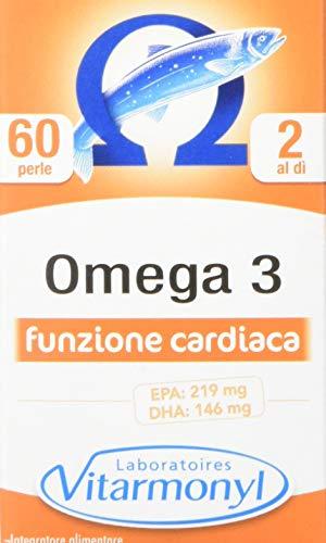 Vitarmonyl Omega 3  Integratore 60 perle  Benessere cardio-vascolare  Con Vitamina E naturale  Registrato Ministero Salute Italiano