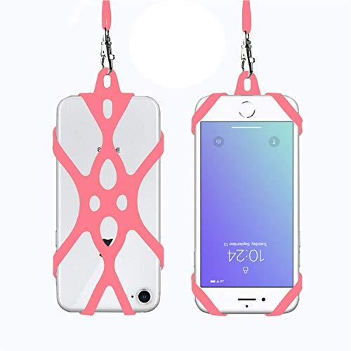 Rocontrip Funda de Silicona para Teléfono con el Cordón Manos Libres para el iPhone 6 6S 6 Plus iPhone 6S Plus, iPhone 7 y 7 Plus, Samsung, de 4.7-5.5 Pulgadas (Melon Rojo)