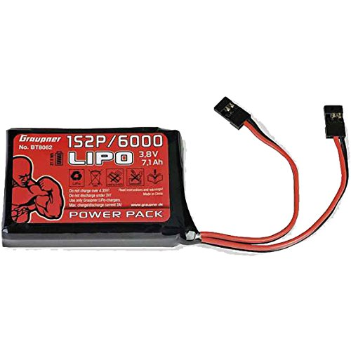 Trasmettitore batteria lipo 1S2P/60003,8V TX 27WH Graupner