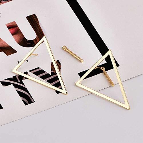 Jovono - Orecchini alla moda in lega con triangolo semplice posteriore, per donne e ragazze (oro)