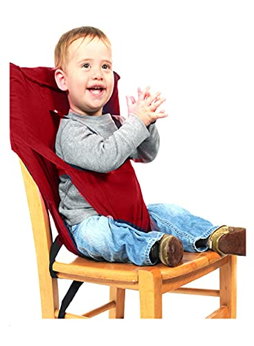 Magic Seat Baby Portable Seat Belt/Booster Chair Strap/Baby Safety Harness/Seat Belt for Feeding Baby (Red)