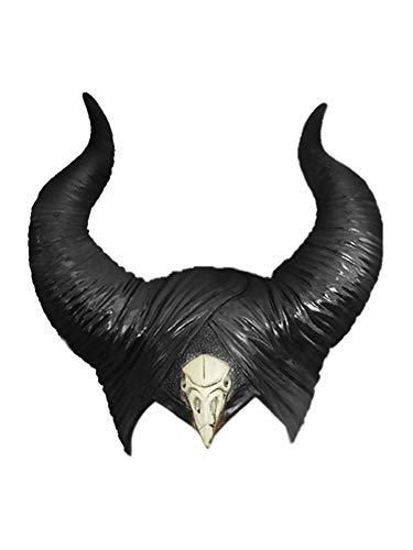 BROADREAM Evil Queen - Gorro de látex para Halloween, cosplay, unisex, talla única