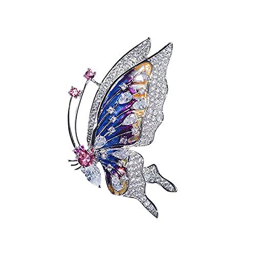COLORFULTEA Bonitos Alfileres De Esmalte De Mariposa, Broches De Insectos con Diamantes...