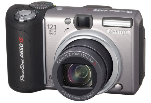 Canon Powershot A650 IS Digitalkamera (12,1 Megapixel, 6x optischer Zoom, dreh-und schwenkbares 2,5-Zoll Display)