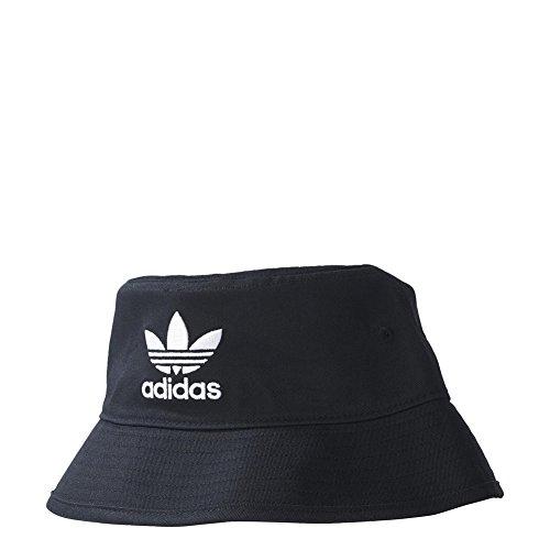 adidas Adicolor Bucket, Cappellino da Pescatore Unisex-Adulto, Nero Bianco, OSFW