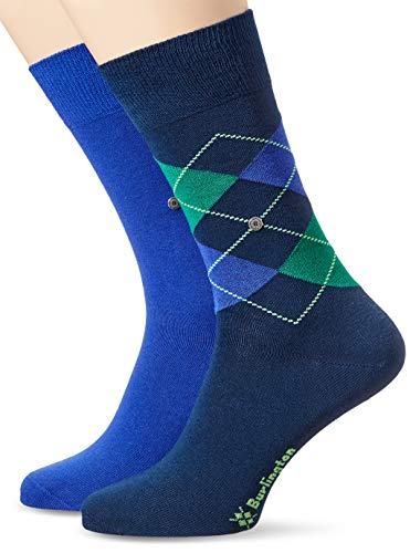 Burlington Herren Socken, Everyday Mix M SO, 2 Paar, blau (marine 6123), 40-46