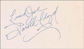Harold Lloyd - Autograph Note Signed
