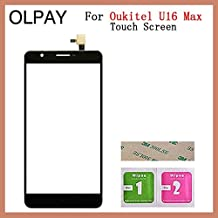 """JannahMehr-Mobile Phone Touch Panel - Mobile Phone Touch Panel Front Glass For Oukitel U16 Max 6.0"""" inch Touch Screen Digitizer Panel Glass Sensor Repair Parts (Black No Tools)"""