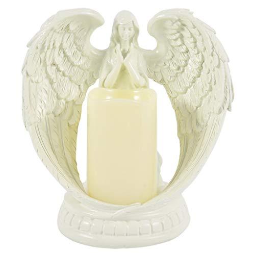 MERIGLARE Angel Praying Statue Candle Holder LED Tealight Holder Figurine Candlestick Gifts