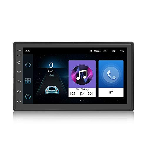 2 Din Android 7.1 In Dash Video Player, KX1018 Musica MP3 / MP4 / MP5 Radio AM/FM GPS Specchio di navigazione Link BT Vivavoce Chiamata Controllo del volante 7 pollici Touch Screen 1 GB RAM Quad Core