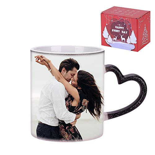 【オーダーメイド】 マグカップ 陶器製 コーヒーカップ 写真入り 熱転写 印刷 コップ おしゃれ ティーカップ 食器 スプーン付き 誕生日 母の日 父の日 クリスマス バレンタインデー 新築 結婚お祝い 記念品 贈答品