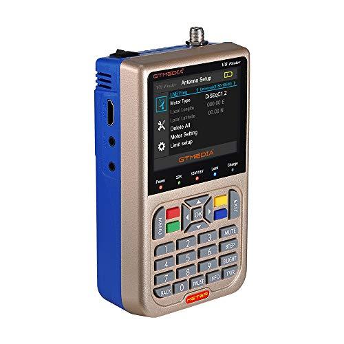 Docooler V8 Finder Meter Medidor de señal de TV DVB-S / S2 / S2X LCD 3,5 Pulgadas HD Medidor Digital Pantalla de Batería 3000mAh