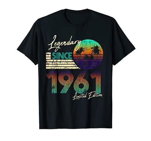 Homme Nées En 1961 Vintage Cadeau Anniversaire 60 Ans T-Shirt