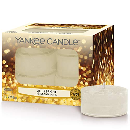 yankee candle all is bright Yankee Candle candeline profumate tea light | Tutto splende | 12 pezzi