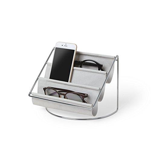 Umbra Hammock Accessoire Organizer - Ablage für Schlüssel, Sonnenbrillen, Lesebrillen, Handys, Briefe und Mehr, Grau, Klein