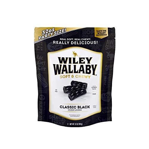 Wiley Wallaby Classic Black Licorice, 32 Ounce Resealable Bag from Wiley Wallaby