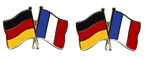 Yantec Freundschaftspin 2er Pack Deutschland Frankreich Pin Anstecknadel Doppelflaggenpin