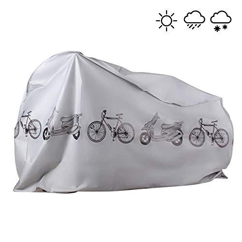 KLAS REMO Fahrradabdeckung wasserdicht Fahrradplane Fahrradhüllen Fahrradschutz Hülle Fahrrad Cover Bike Anti-Staub Abdeckung Hülle für Fahrrad Mountainbike schwarz grau