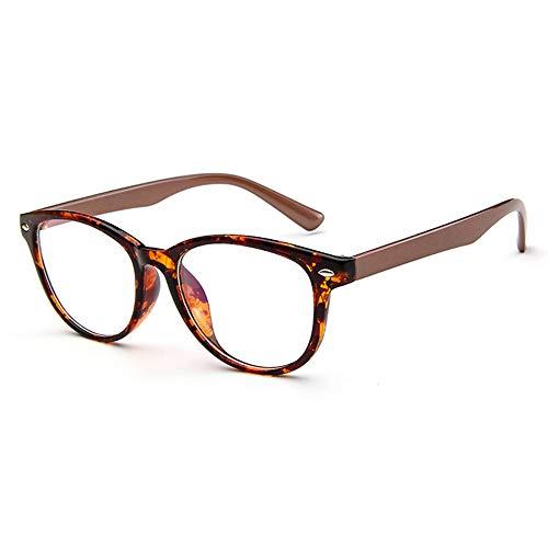 NXMRN Gafas De Sol Monturas De Gafas Vintage Para Mujer, Gafas Ópticas Para Ordenador, Gafas Retro Para Mujer, Gafas Transparentes Para Mujer-C5 Marrón Leopardo