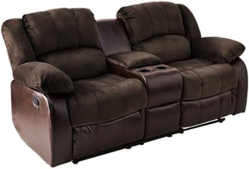 Best NHI Express Aiden Motion Loveseat & Console (1 Pack), Peat