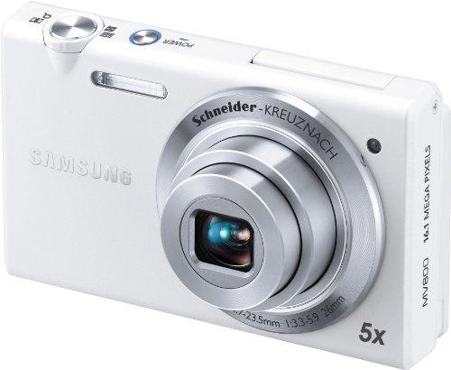 Samsung MV800 Digitalkamera (16 Megapixel, 5-fach opt. Zoom, 7,6 cm (3 Zoll) Klapp-Display, 26mm Weitwinkel, 3D, microSD-Karte, bildstabilisiert) weiß