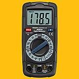 AmazonCommercial - Multímetro digital de rango manual, cuenta hasta 2000