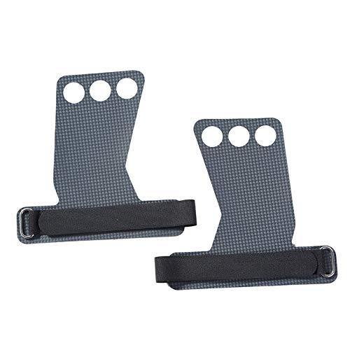 Guantes de levantamiento de pesas de carbono para gimnasia, levantamiento de pesas, gimnasio, protección de la palma para pesas rusas y gimnasia, guantes de gimnasio (color: gris, tamaño: grande)